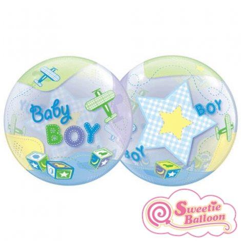 071444697286 Baby Boy Airplanes Bubble Balloon 22 (2)